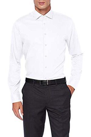 Seidensticker Herren Tailored Fit Langarm mit Spread Kent-Kragen Bügelleicht Uni-Smart Business by -100% Baumwolle Businesshemd