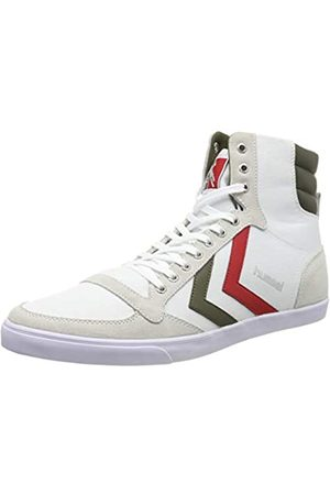 Hummel Unisex-Erwachsene Slimmer Stadil HIGH Hohe Sneaker, (White/Green 9208)