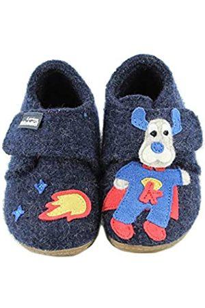 Living Kitzbühel Baby Jungen Babyklett Superman Hausschuhe, (Nachtblau 590)