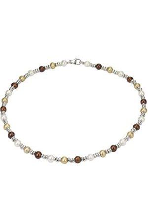 Pearl Dreams Damen-Halskette ohne Anhänger 925 Sterling Silber Süßwasser Zuchtperlen weiß A1770-K60-SIR
