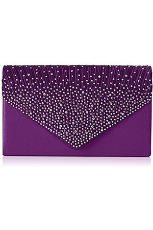 Swankyswans Damen Abby Diamante Envelope Style Bag Tasche
