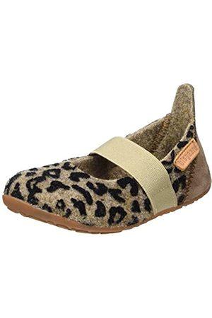Bisgaard Mädchen Wool Ballet Slipper, Mehrfarbig (173 Brown-Leopard)