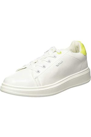 TOM TAILOR Mädchen 8073201 Sneaker, Mehrfarbig (White-Neon Yellow 02704)