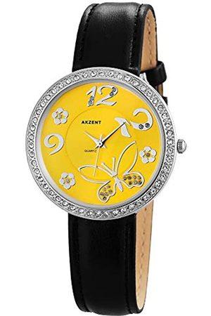Akzent Damen Analog Quarz Uhr mit Leder Armband SS8024000012
