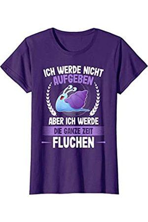 Lustige Laufen Joggen Sprüche T-Shirts ICH WERDE NICHT AUFGEBEN - Schnecken Läufer Jogger Running T-Shirt