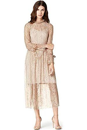 TRUTH & FABLE Amazon-Marke: Damen Midi-Spitzenkleid, 42