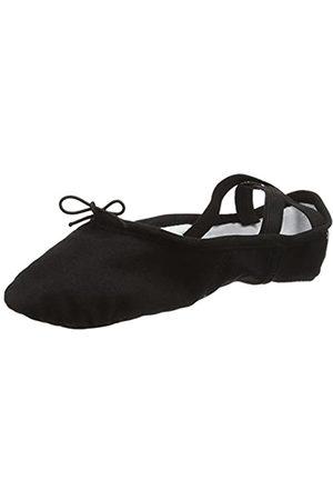 So Danca Damen Bae13 Riemchenballerinas, (Black)