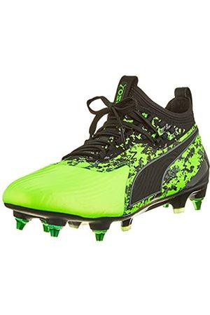 Puma Herren ONE 19.1 Mx SG Fußballschuhe, (Green Gecko Black-Charcoal Gray)