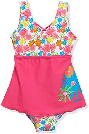 Playshoes Mädchen UV-Schutz Badeanzug mit Rock Blumenmeer Einteiler