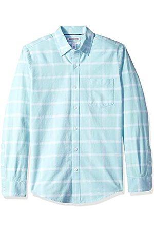 Amazon Herren-Oxford-Shirt, Langarm, normale Passform, mit Brusttasche