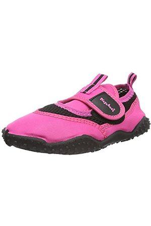 Playshoes Badeschuhe Neonfarben mit höchstem UV-Schutz nach Standard 801 174796, Unisex-Kinder Aqua Schuhe, Pink (pink 18)
