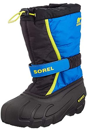 sorel Unisex-Kinder Youth Flurry Schneestiefel, / (Black/Super Blue)