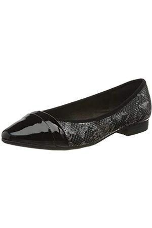Jana Softline Damen 8-8-22165-24 Geschlossene Ballerinas, (Black Snake 095)