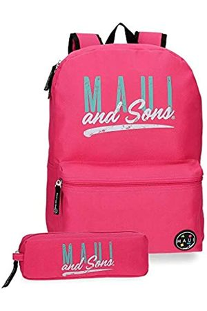 Maui & Sons Maui and Sons Hawai Schulrucksack 40 Centimeters 15.6 Pink