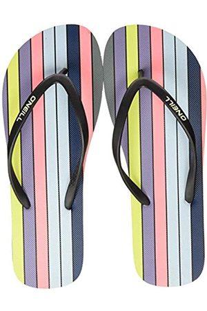 O'Neill Damen FW M & M Print Sandals Zehentrenner, (Green AOP W/Pink or Purple 6940)