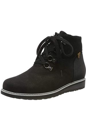 Waldläufer Damen Havida Stiefeletten, (Bear Velour Bronx 001)