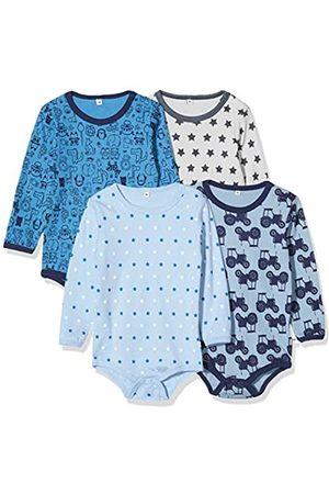 Pippi Unisex Baby 4er Pack Aufdruck, Langarm Formender Body