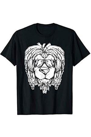 Rasta lion graphics Rasta Löwe mit Sonnenbrille T-Shirt