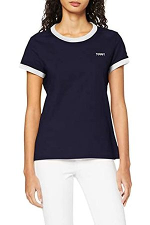 Tommy Hilfiger Damen Tjw Logo Ringer Tee T-Shirt