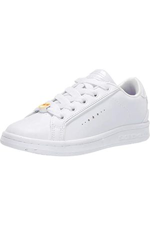Skechers Mädchen Omne Class Star Sneaker, (White Dura Leather Wht)