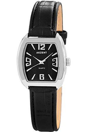 Akzent Damen Analog Quarz Uhr mit Leder Armband SS8021000014