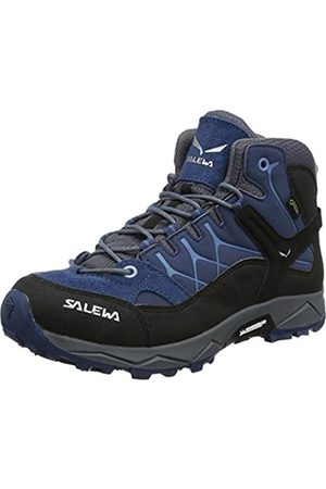 Salewa Jr Alp Trainer Mid Gtx, Unisex-Kinder Trekking- & Wanderstiefel, (Dark Denim / Charcoal 0365)