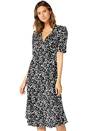 TRUTH & FABLE Amazon-Marke: Damen Midi Chiffon-Kleid mit A-Linie, 40
