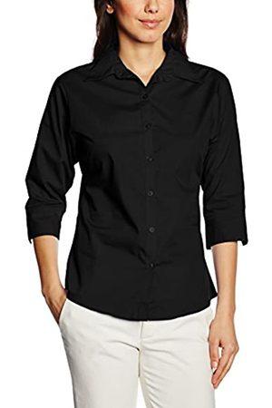 Premier Workwear Damen Ladies Poplin Blouse 3/4 Sleeved Bluse