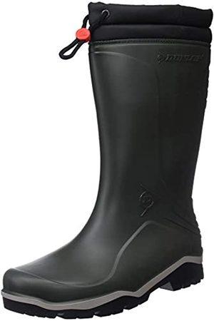 Dunlop Blizzard gefütterte Herren Gummistiefel, (Green/Grey/Black )