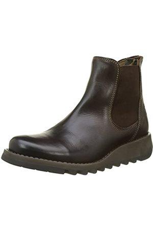 Fly London Damen Salv Chelsea Boots, (Dark Brown)