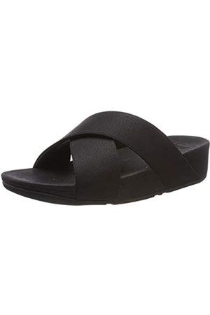 FitFlop Damen Luli Shimmerlux Slides Peeptoe Sandalen, (Black 001)