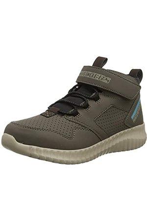 Skechers Boys' Elite Flex HYDROX Trainers, Grey (Stone Synthetic/Black & Chocolate Trim STN)