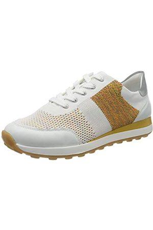 Remonte Damen D1812 Sneaker, (Weiss/Weiss-Multi/Silver 81)