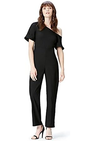 FIND Amazon-Marke: Jumpsuit Damen Off Shoulder-Schnitt und gerades Bein, 40
