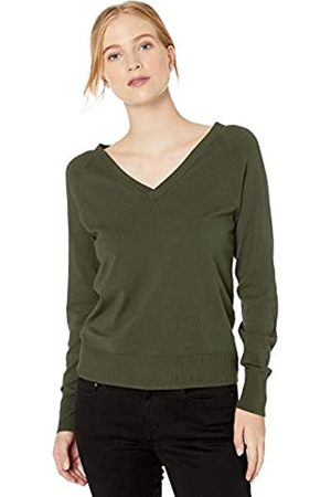 Daily Ritual Fine Gauge Stretch V-Neck Sweater pullover-sweaters