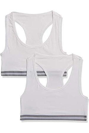 IRIS & LILLY Amazon-Marke: Iris & Lillly Damen sportlich geschnittenes Top, 2er-Pack