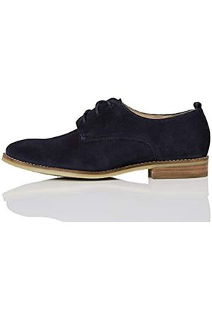 FIND Amazon-Marke: FIND Leather Brogues, (Navy)