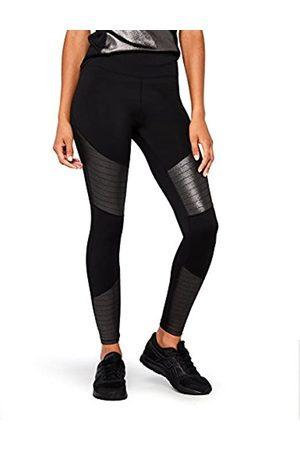 AURIQUE Amazon-Marke: Damen Sport Leggings mit hohem Bund und glänzender Oberfläche, 40