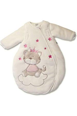 Jacky Baby Winter Schlafsack Katze, Mit abnehmbaren Ärmeln, Wattiert, Alter: 0-2 Monate, Größe: 50/56, Farbe: Beige/Rosa
