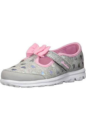 Skechers Baby Girl's 81162N Trainers, Grey (Grey/Pink)