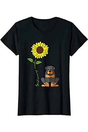 Hund Mama Rottweiler Lover Bekleidung Damen Guten Morgen Sonnenschein Rottweiler Mutter Sonnenblume T-Shirt