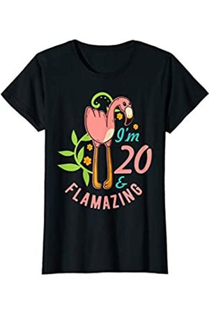 Süße Frauen Geschenkideen zum 20. Geburtstag Damen Geschenk zum 20. Geburtstag Frauen süßes Flamazing Flamingo T-Shirt