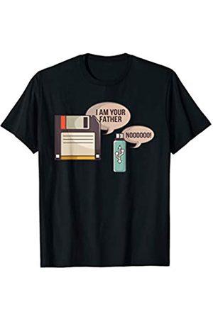 I Am Your Father USB Diskette IT Nerd Geek Diskette ich bin dein Vater USB Nerd Admin Design T-Shirt