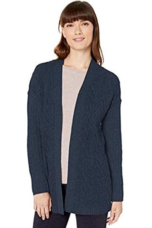 Amazon Cable Open-Front Sweater pullover-sweaters, Navy Heather