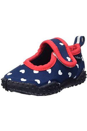Playshoes Mädchen Badeschuhe mit UV-Schutz Herzchen Aqua Schuhe, (Marine 11)