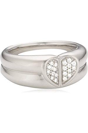 MERII Damen-Ring 925 Sterling Silber rhodiniert Zirkonia Gr.50 (15.9) M0641R/90/03/50