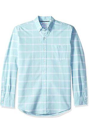 Amazon Herren-Oxford-Shirt, Langarm, normale Passform, Brusttasche