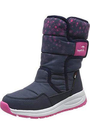KangaROOS Unisex-Kinder K-Fluff RTX Schneestiefel, (Dk Navy/Daisy Pink 4204)