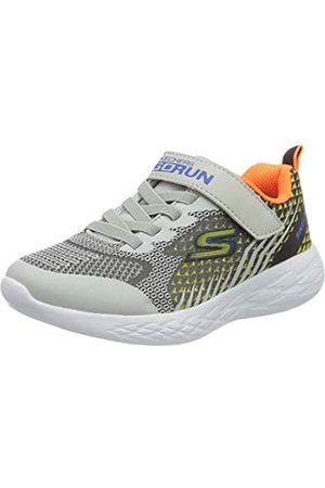 Skechers Jungen GO Run 600 BAXTUX Sneaker, (Black & Charcoal Mesh/Light Gray Synthetic/BKGY)