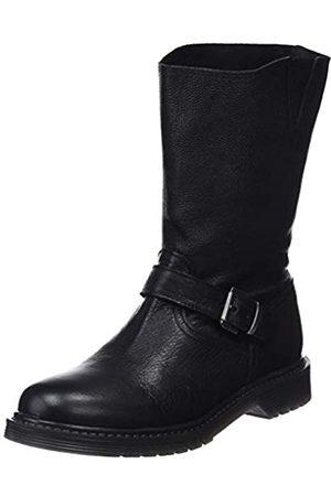 Mamatayoe Damen Ofelia Biker Boots, (Black Real Leather 001)